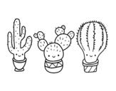 <span class='hidden-xs'>Coloriage de </span>3 mini cactus à colorier