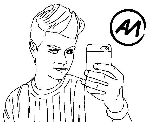 Coloriage De Abraham Mateo Selfie Pour Colorier