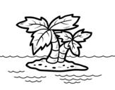 <span class='hidden-xs'>Coloriage de </span>Île déserte à colorier