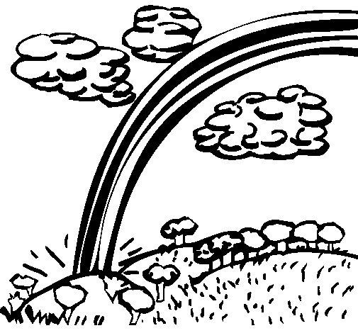 Coloriage de arc en ciel pour colorier - Arc en ciel dessin a colorier ...