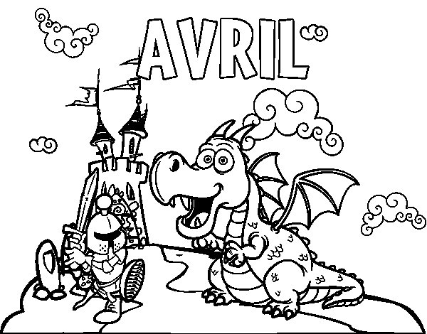 Coloriage de avril pour colorier - Coloriage avril ...