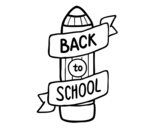 <span class='hidden-xs'>Coloriage de </span>Back to School à colorier