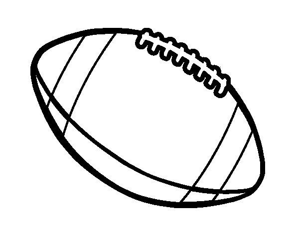 Coloriage de balle de football am ricain pour colorier - Dessin football americain ...