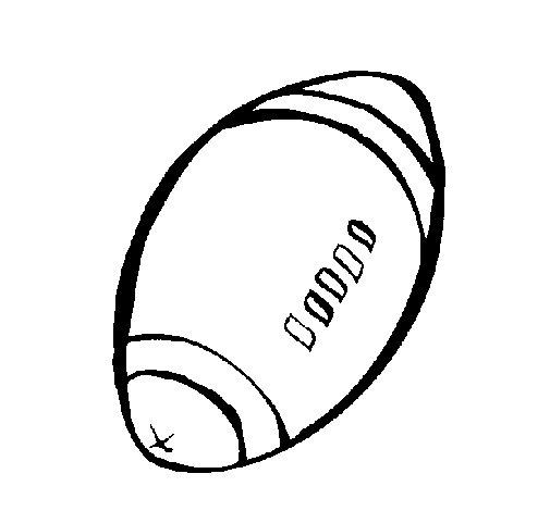 Coloriage de ballon de football am ricain pour colorier - Dessin football americain ...