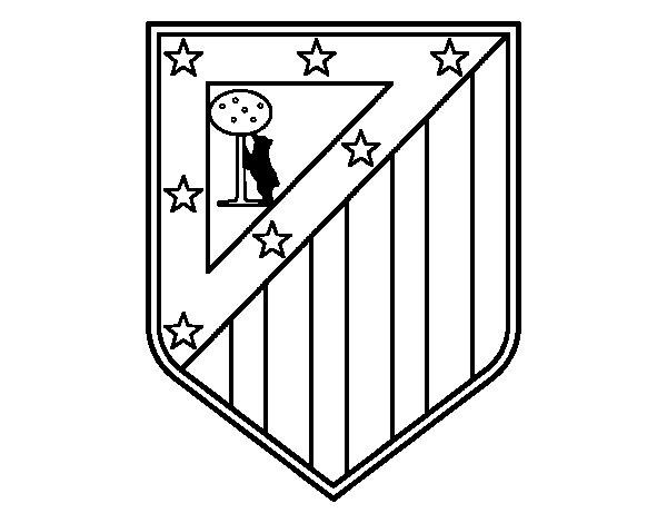 Coloriage de blason du club atl tico de madrid pour colorier - Coloriage de logo de foot ...