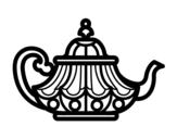 <span class='hidden-xs'>Coloriage de </span>bouilloire arabe à colorier