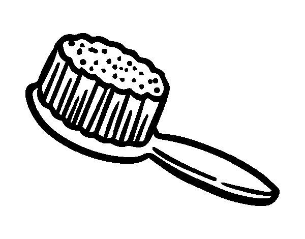 Clip de fessée de brosse à cheveux