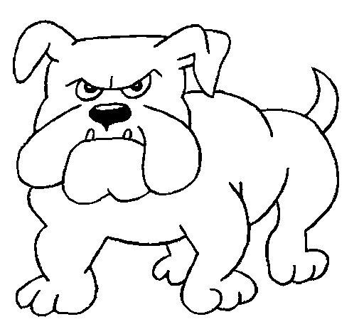 Coloriage de Bulldog pour Colorier
