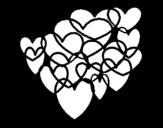Dibujo de Cœurs collés
