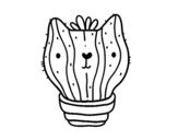 <span class='hidden-xs'>Coloriage de </span>Cactus chat à colorier
