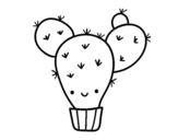 <span class='hidden-xs'>Coloriage de </span>Cactus nopal à colorier
