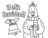 <span class='hidden-xs'>Coloriage de </span>Carte Joyeux Noël à colorier