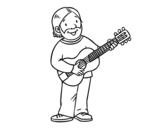 <span class='hidden-xs'>Coloriage de </span>Chanteur-compositeur à colorier