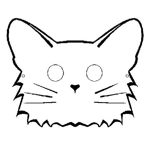 Coloriage de chat pour colorier - Masque de chat a colorier ...
