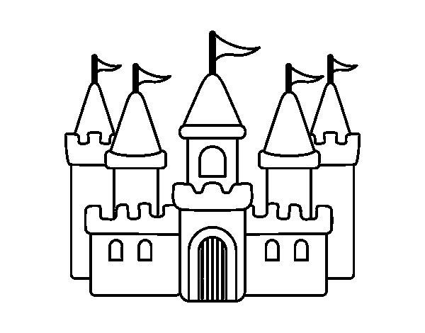Coloriage de ch teau fantastique pour colorier - Chateau coloriage ...