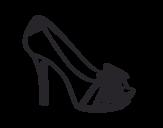 <span class='hidden-xs'>Coloriage de </span>Chaussure de plate-forme avec ruban à colorier