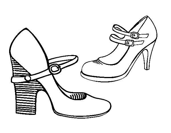 coloriage de chaussure talon pour colorier coloritoucom
