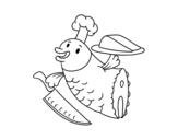 Dibujo de Chef Poisson