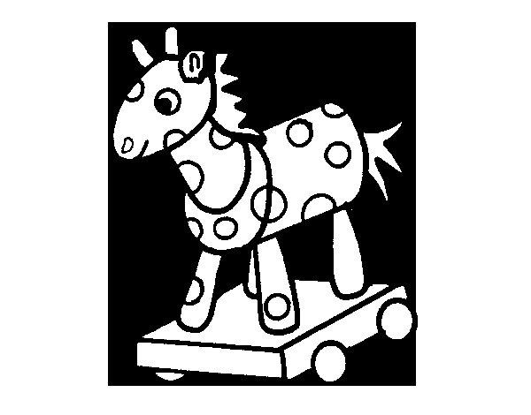 Coloriage de Cheval de bois pour Colorier