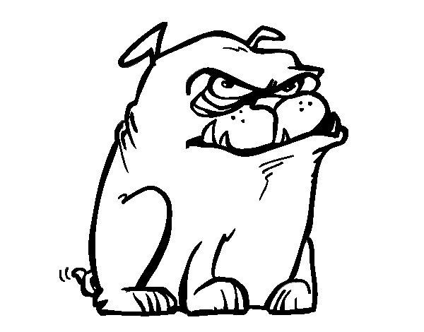 Coloriage de chien m chant pour colorier - Dessin a colorier chien ...