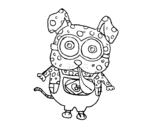 <span class='hidden-xs'>Coloriage de </span>Chien Minion à colorier