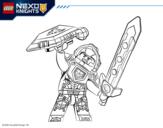 <span class='hidden-xs'>Coloriage de </span>Clay Nexo Knights à colorier