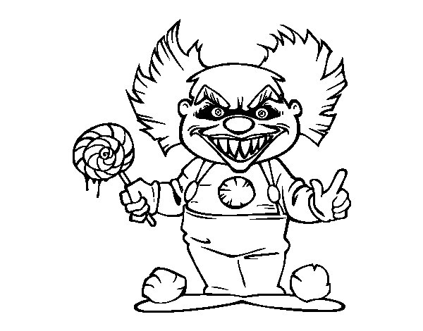 The gallery for killer clown coloring pages - Clown coloriage ...
