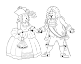 <span class='hidden-xs'>Coloriage de </span>Comte et comtesse à colorier