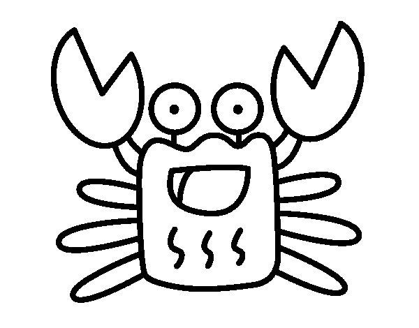 Coloriage de Crabe allègre pour Colorier