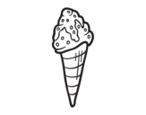 <span class='hidden-xs'>Coloriage de </span>Crème glacée cornet avec la garniture à colorier