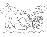 Dibujo de Dalamtien jouant