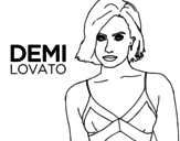 <span class='hidden-xs'>Coloriage de </span>Demi Lovato à colorier