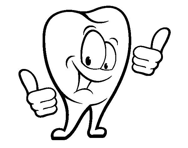 Coloriage de dent sain pour colorier - Coloriage dent ...