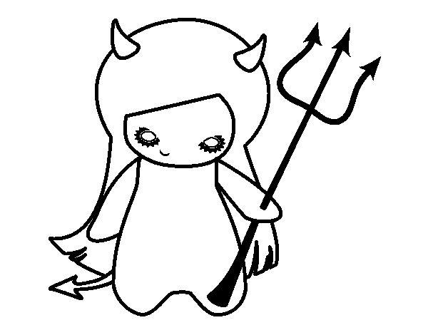 red devil coloring pages - photo#44