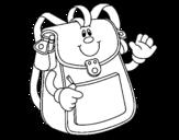 Dibujo de École à dos