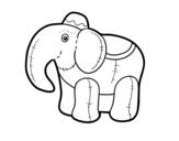 <span class='hidden-xs'>Coloriage de </span>Éléphant du chiffon à colorier