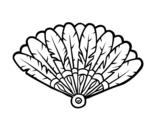 <span class='hidden-xs'>Coloriage de </span>Éventail de plume à colorier