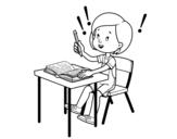 <span class='hidden-xs'>Coloriage de </span>Examen scolaire à colorier