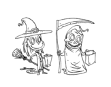 Dibujo de Farce ou friandise Halloween
