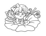 Dibujo de Fée sur une fleur