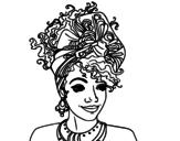 <span class='hidden-xs'>Coloriage de </span>Femme africaine à colorier