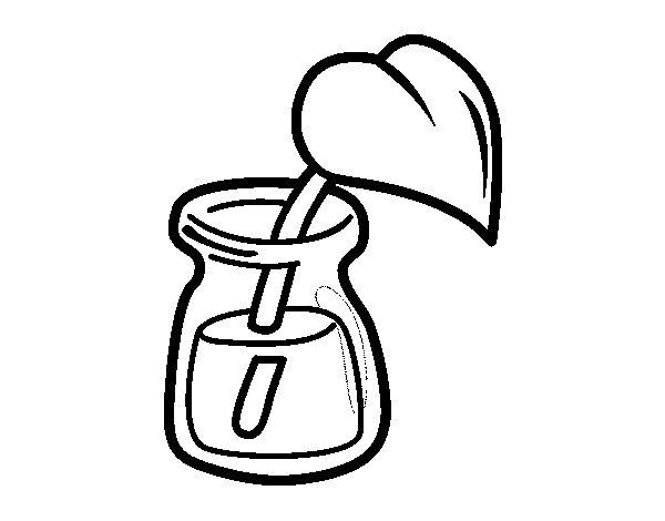 Coloriage de feuille dans un verre pour colorier - Verre coloriage ...