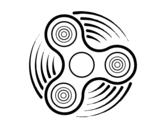<span class='hidden-xs'>Coloriage de </span>Fidget spinner à colorier