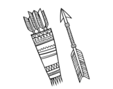 <span class='hidden-xs'>Coloriage de </span>Flèches indiennes à colorier