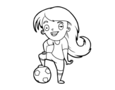 <span class='hidden-xs'>Coloriage de </span>Football féminin à colorier