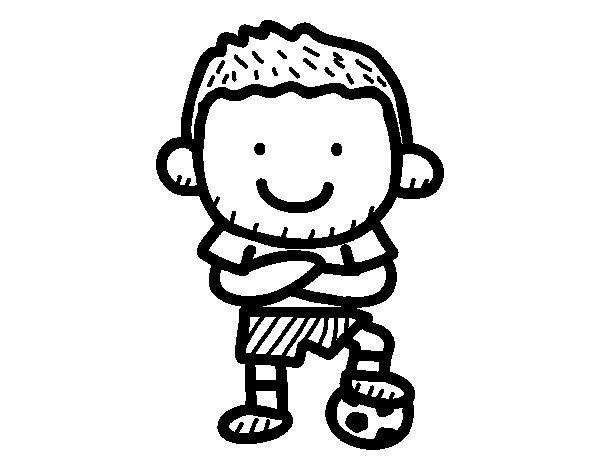 Coloriage de footballeur pour colorier - Footballeur a colorier ...
