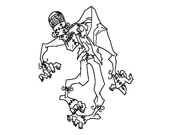 Coloriage de frankenstein zombie pour colorier - Coloriage zombie ...