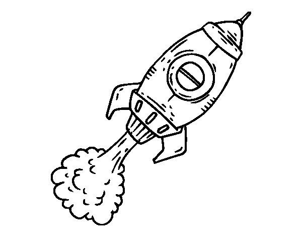 Coloriage de fus e propulsion pour colorier - Fusee a colorier ...