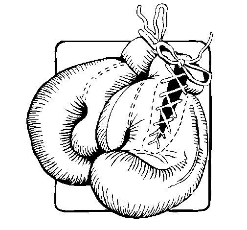 Coloriage de gants de boxe pour colorier - Dessin gant de boxe ...