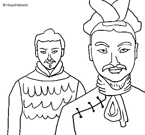Coloriage de guerriers chinois pour colorier for Guerriero da colorare
